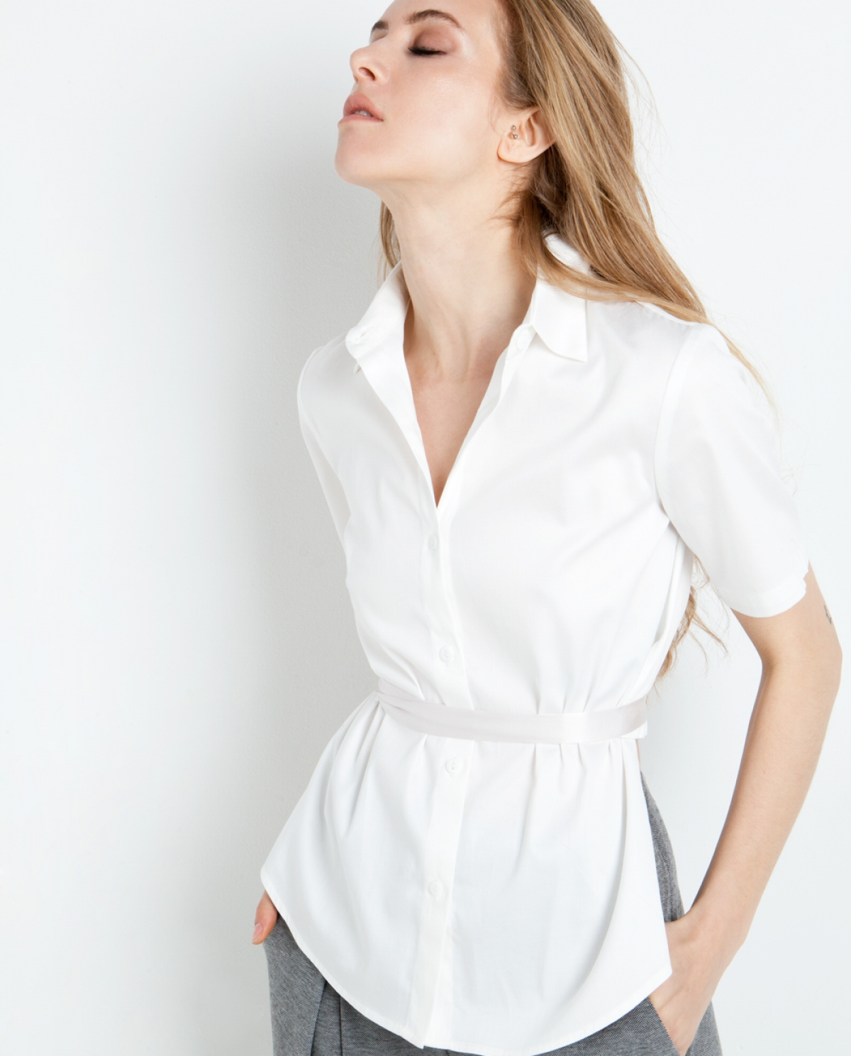 Primose Assymetric Cotton Shirt