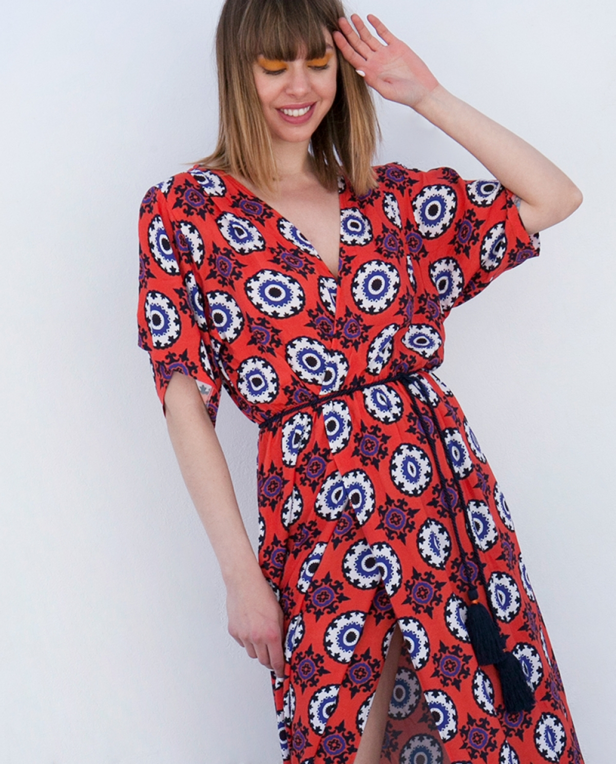 Printed Kaftan-dress