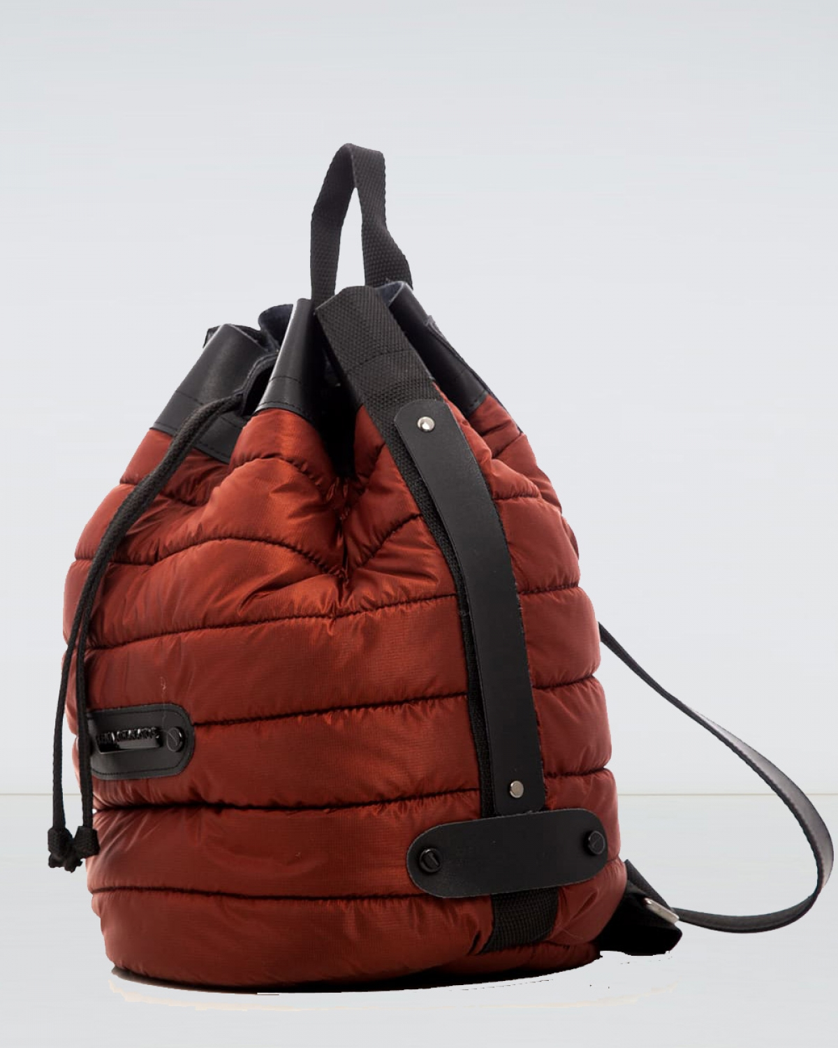 Red Brick Puffer Backpack