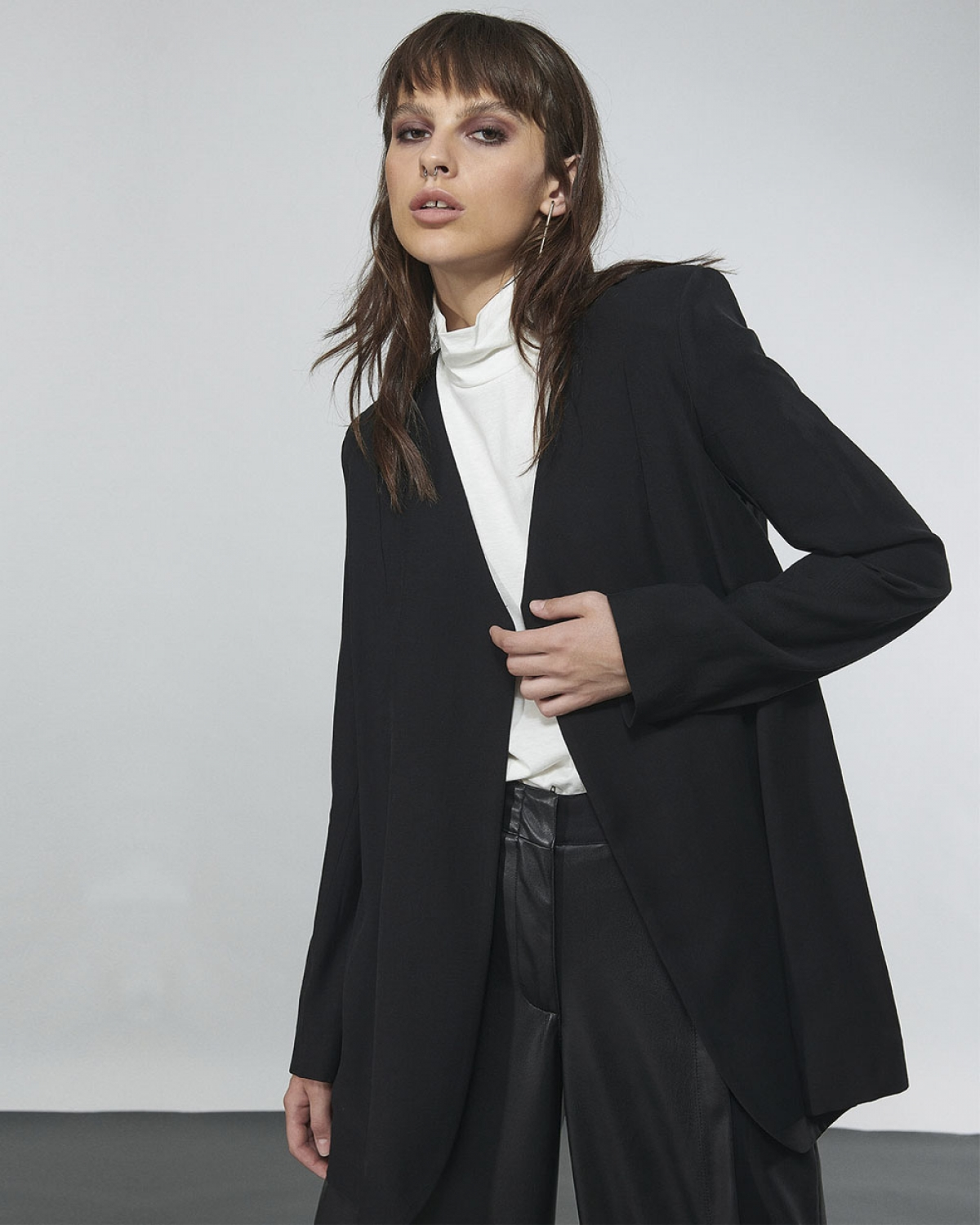 Relaxed Rayon Blazer