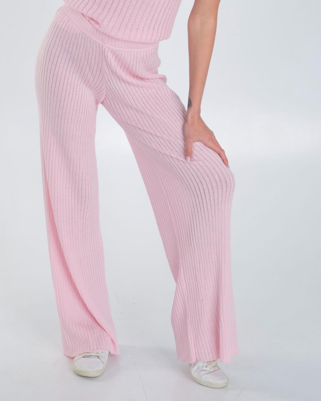 Ribbed Knit Pink Pants