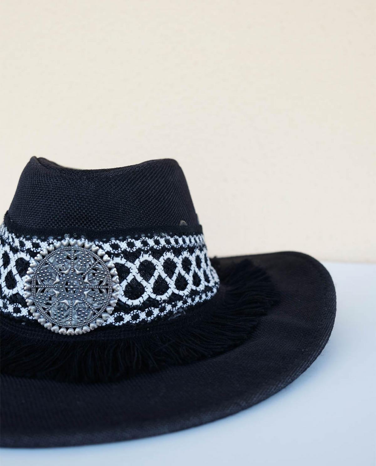 Rina Embellished Straw Hat