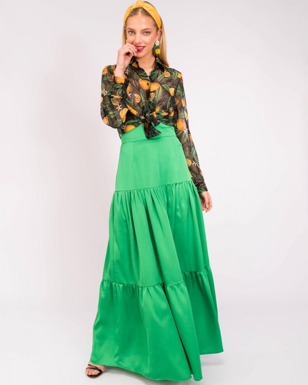 Sana Green Skirt