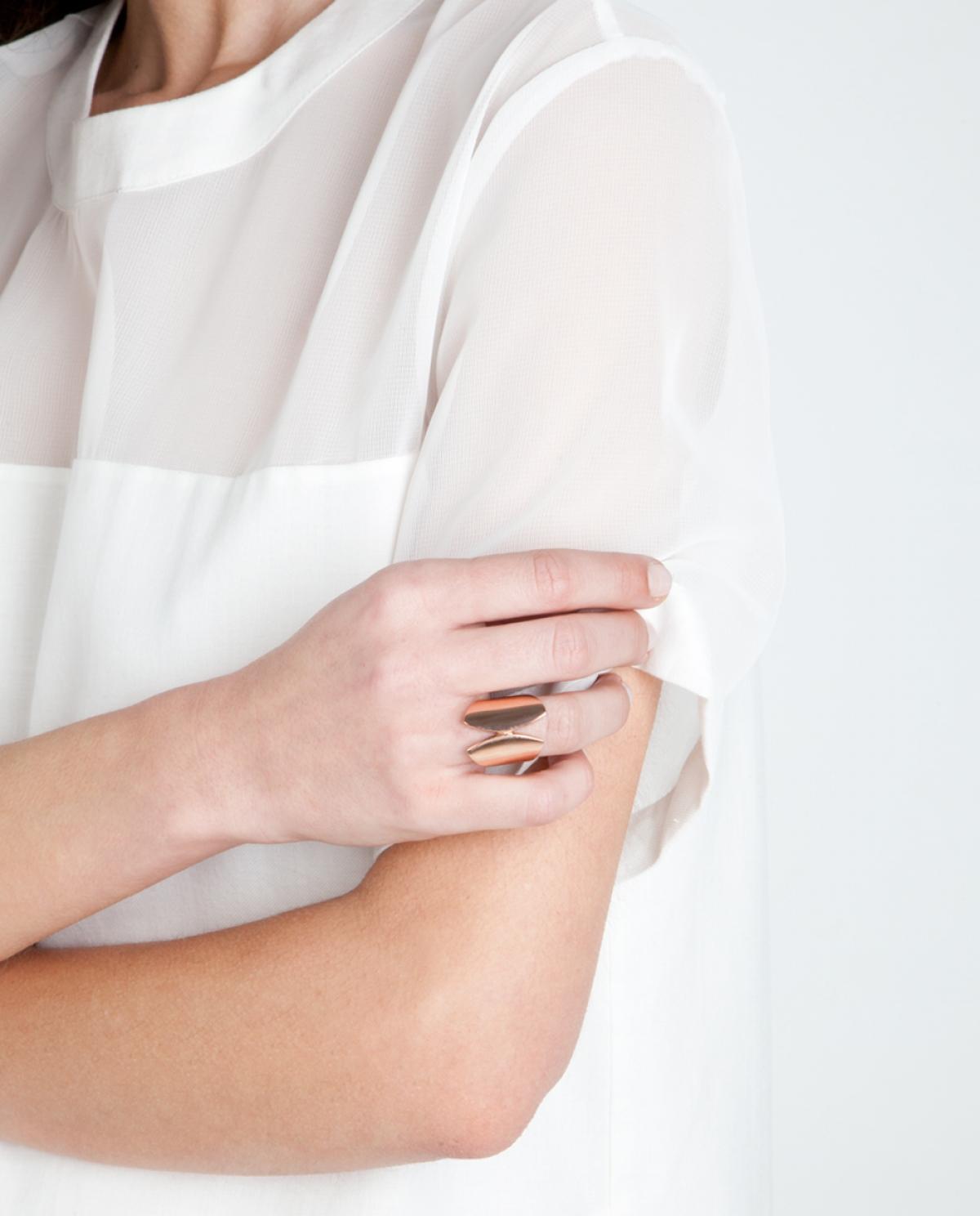 Scutum Rose-gold Ring