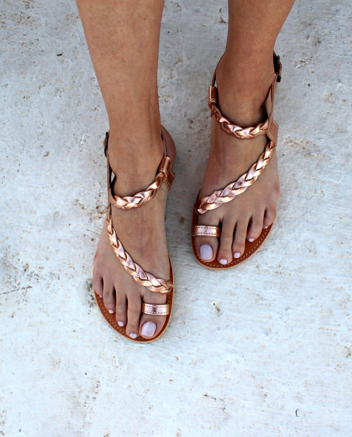 Semele Braided Leather Sandals