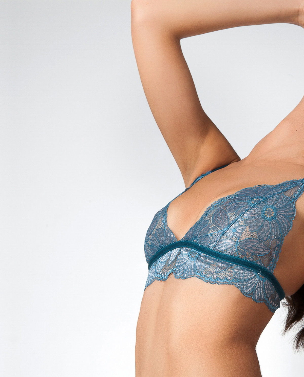 Shades of Teal Lace Lingerie Set