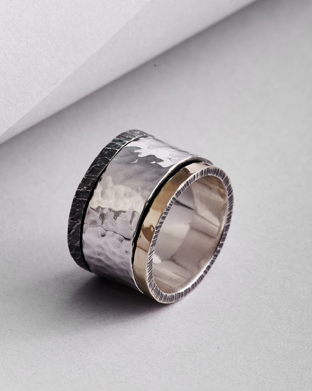 Silver-tone Gold Ring