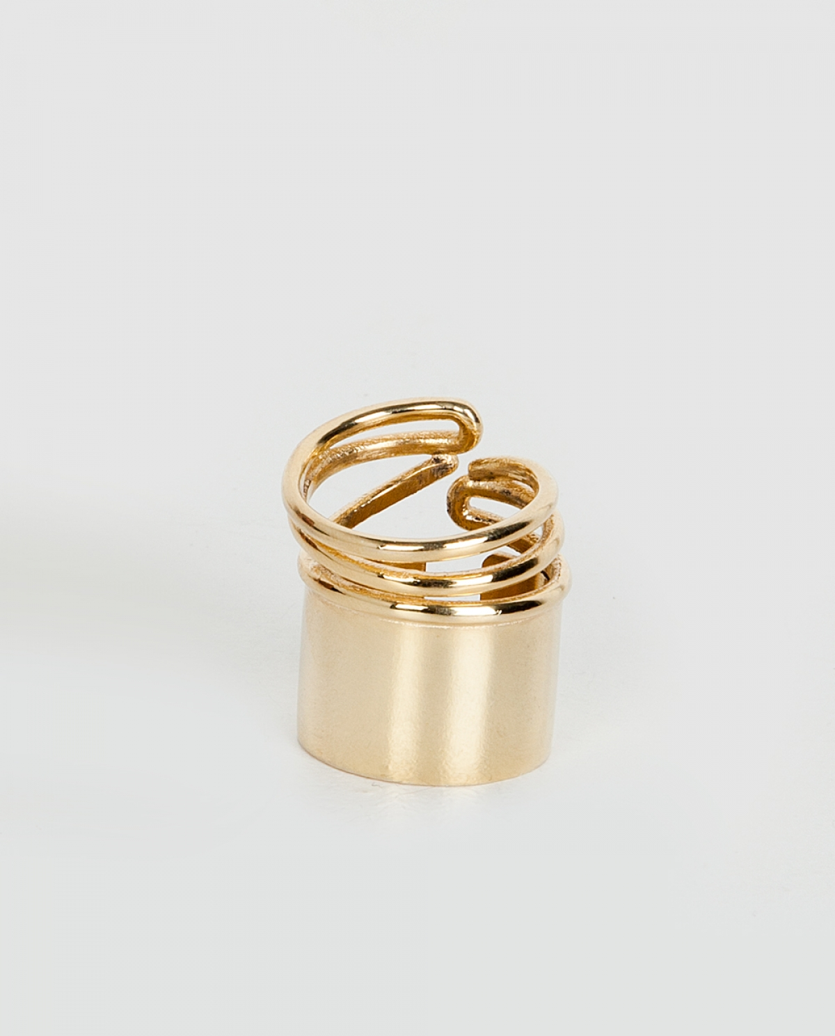 Snail Gold-plated Silver Ring