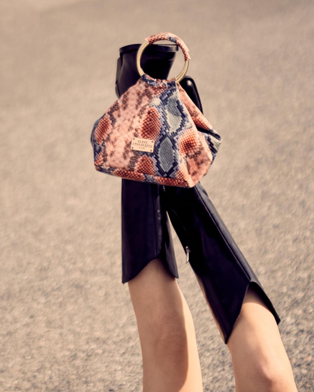 Snake Pattern Pink Blue Bracelet Bag