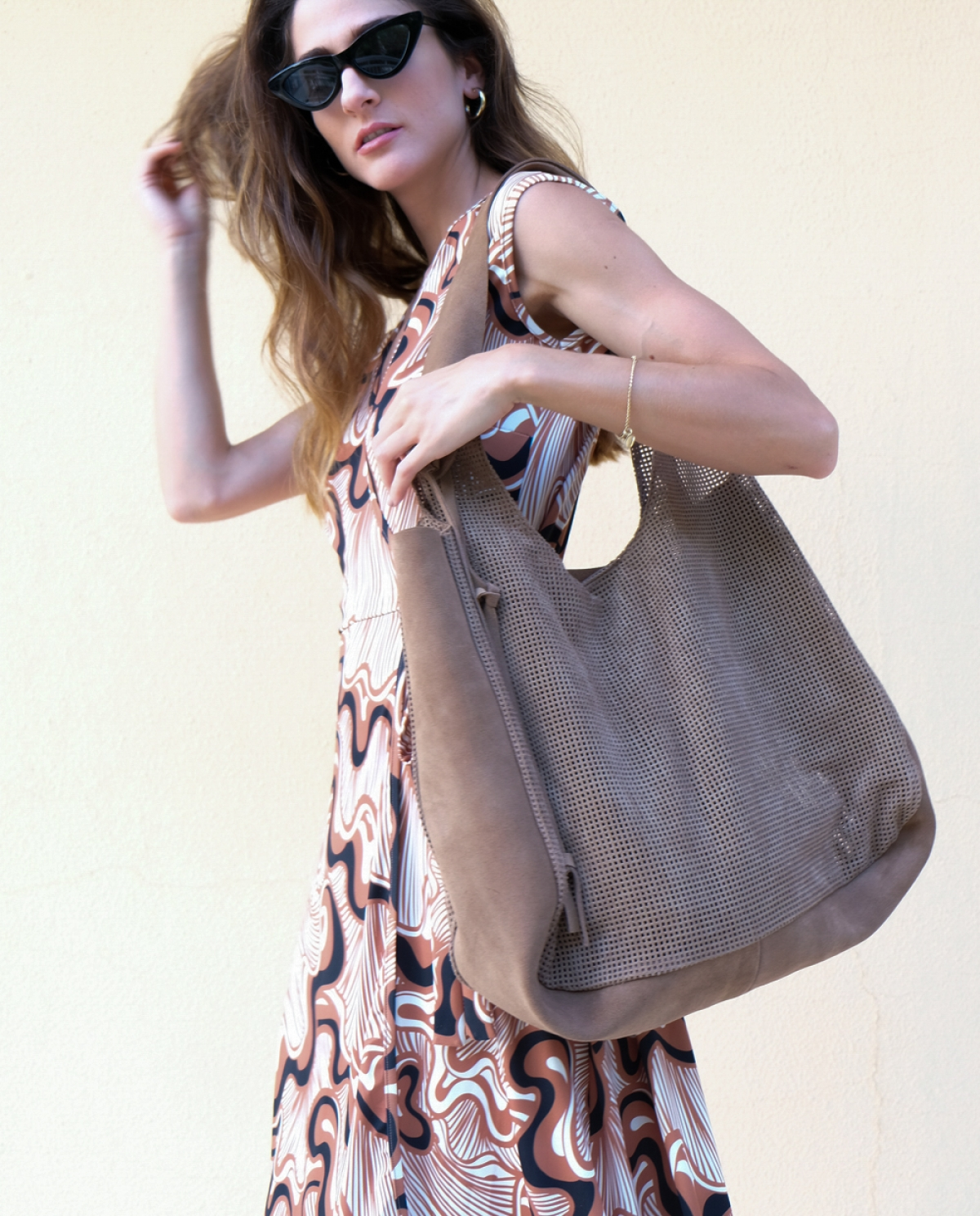 Soul Perforated Leather Tote Bag