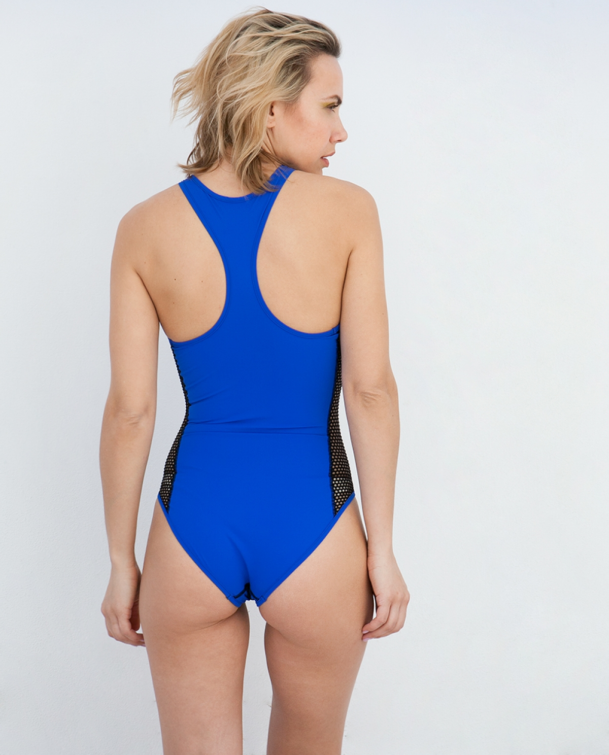 946dd9c2bf Sporty Zipper Blue Swimsuit - Fashionnoiz