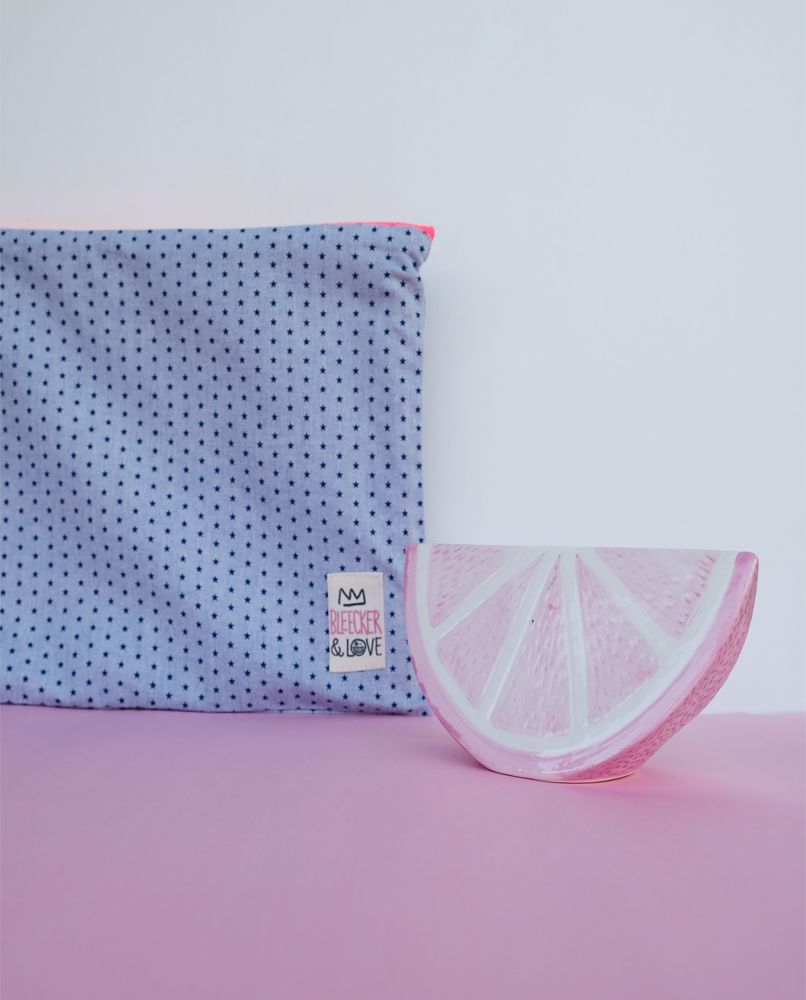 Dots Canvas Clutch
