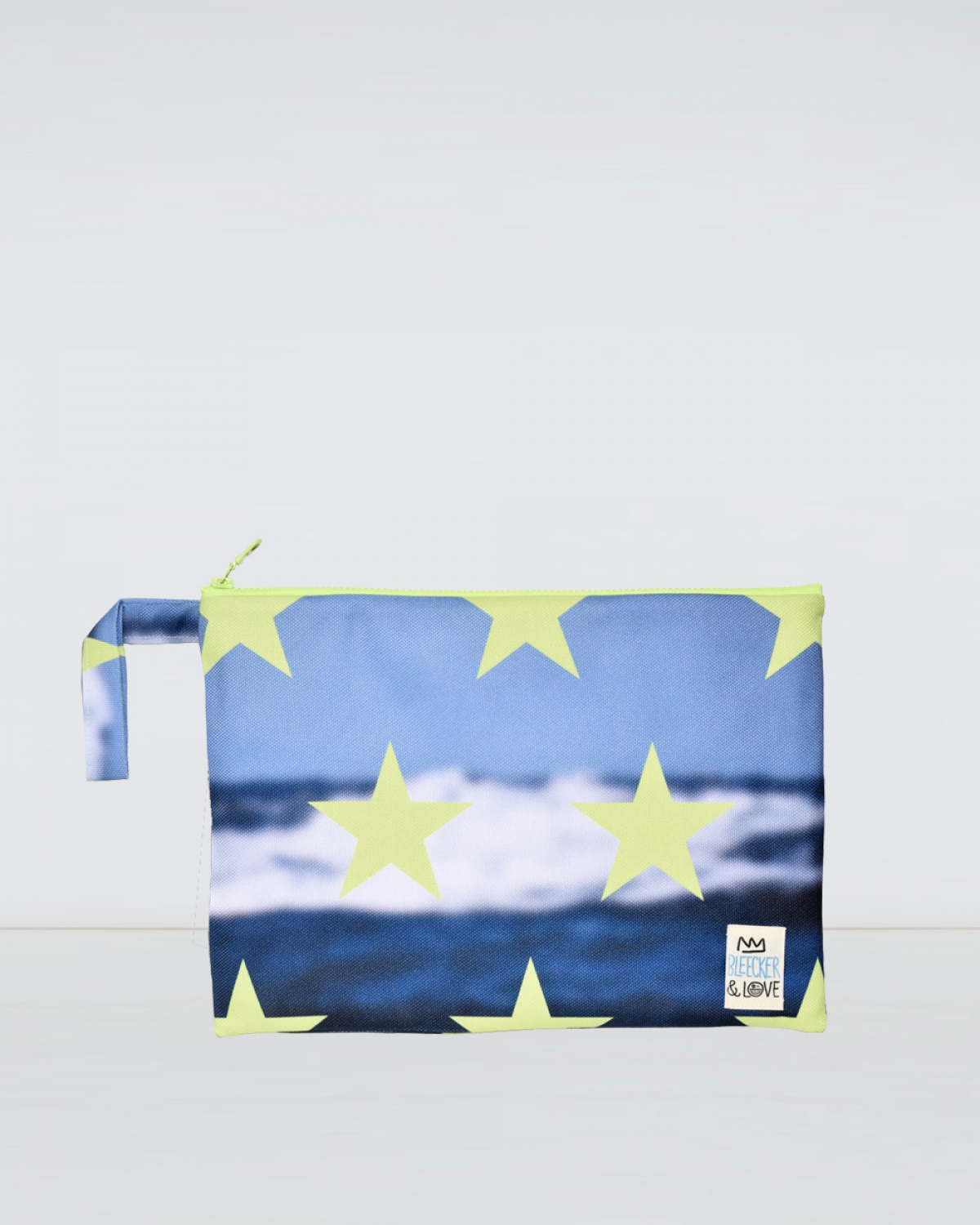 Stars Splash Woven Medium Clutch