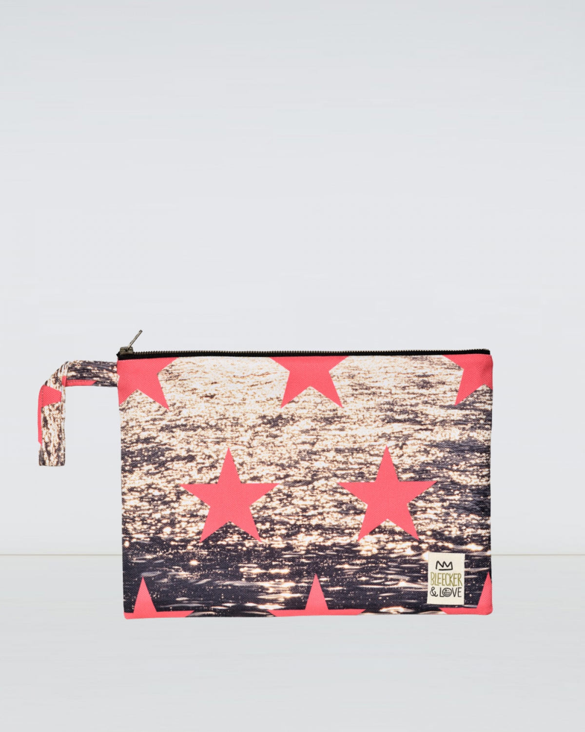 Stars Gold Woven Medium Clutch