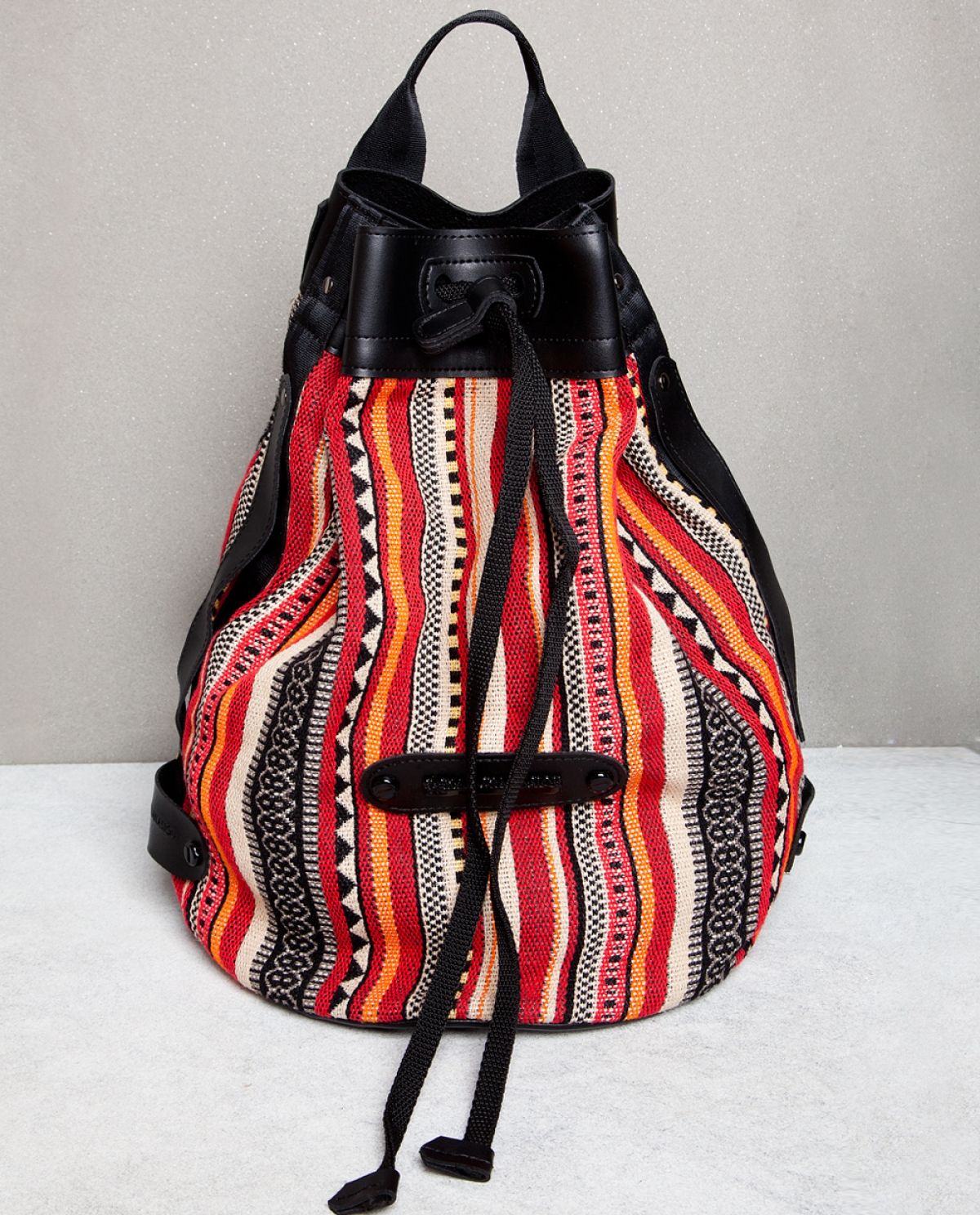 Striped Pattern Backpack