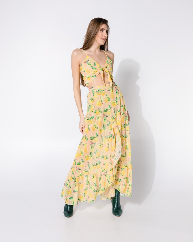 Take The Lemons Yellow Skirt