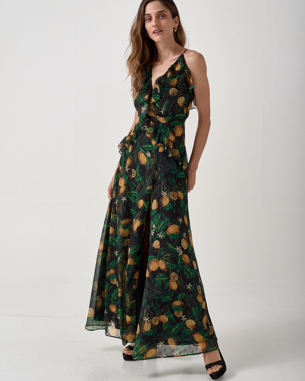 Taormina Lemon Printed Dress