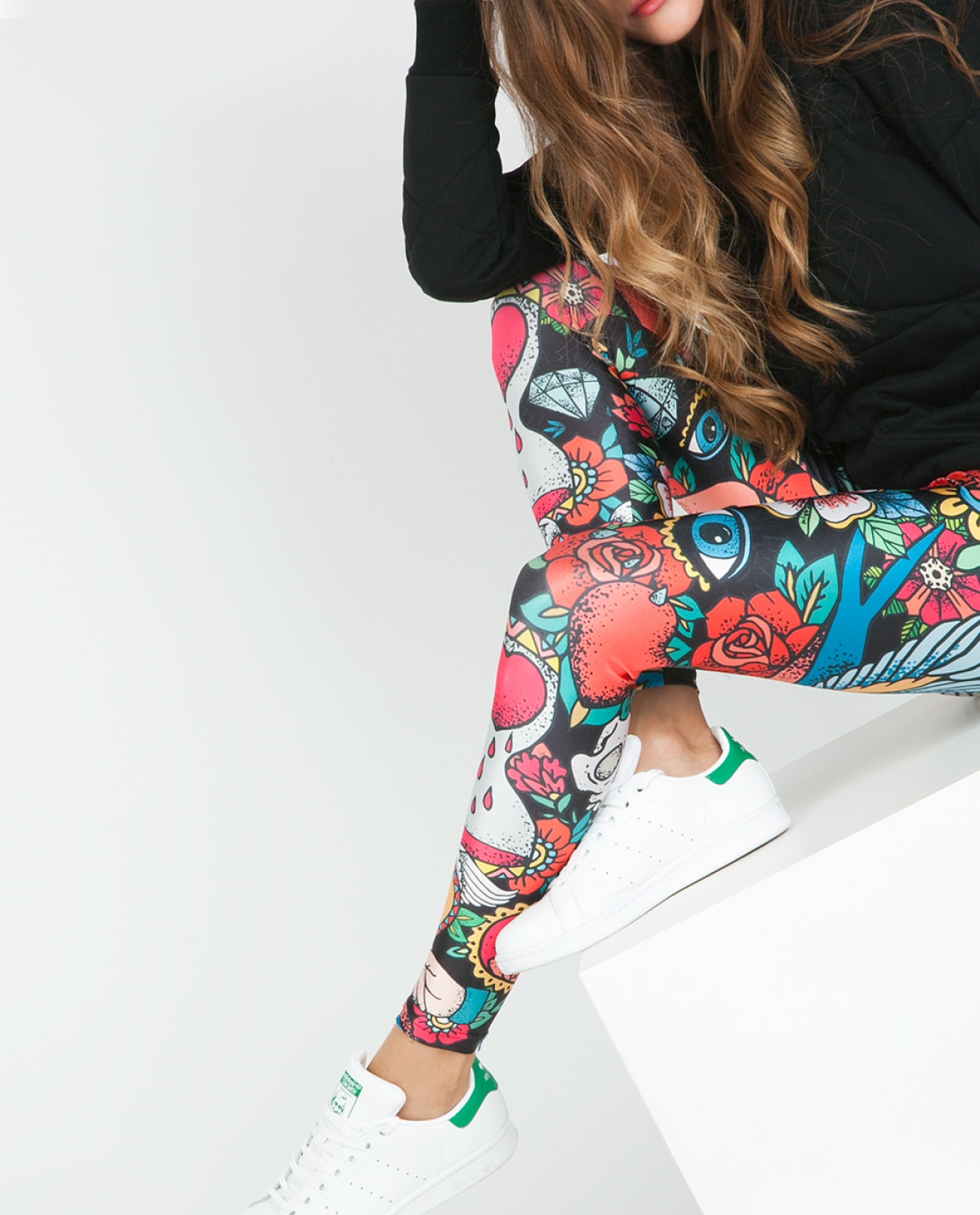 Tattoo Collage Jersey Leggings
