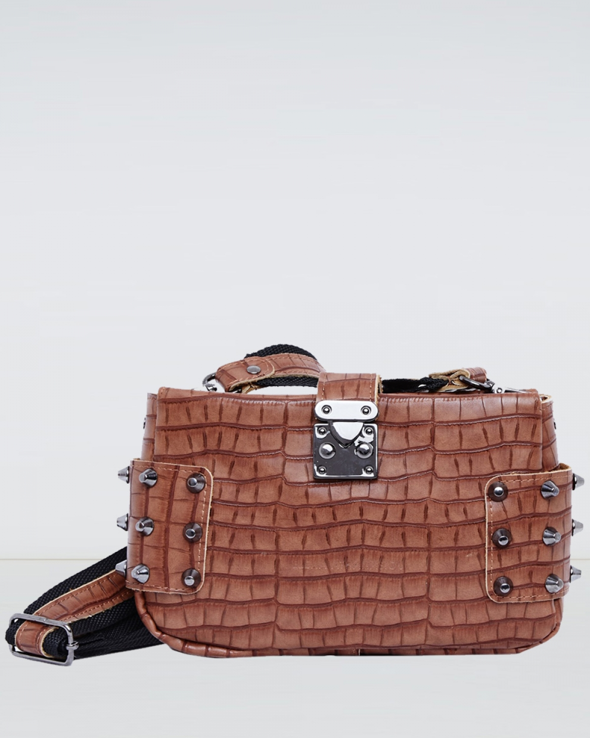 Taupe Croco City Lady Clutch