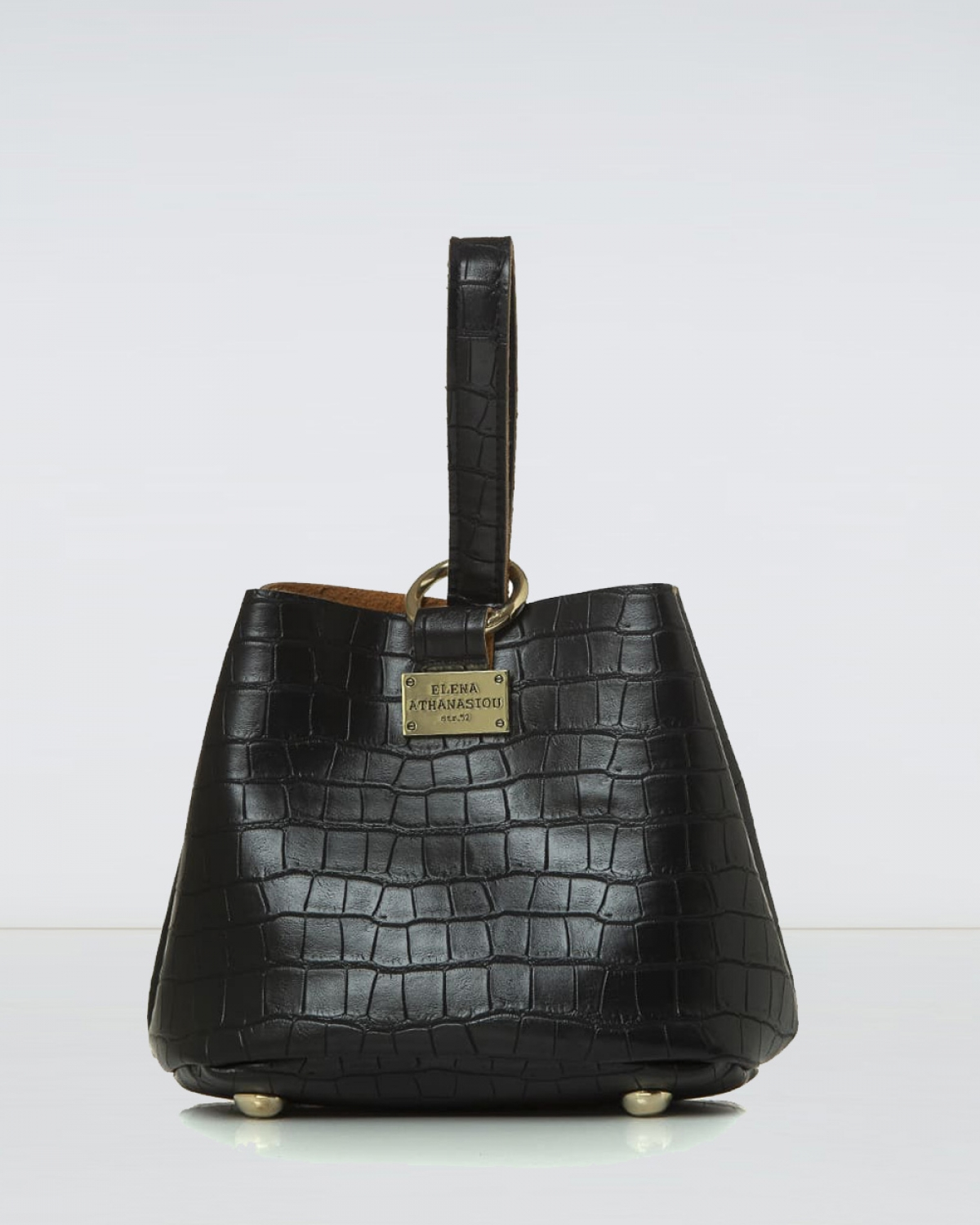 Tiny Croco Black Bag