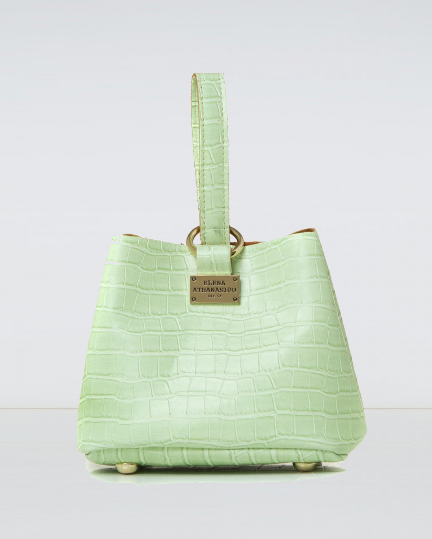 Tiny Croco Mint Bag