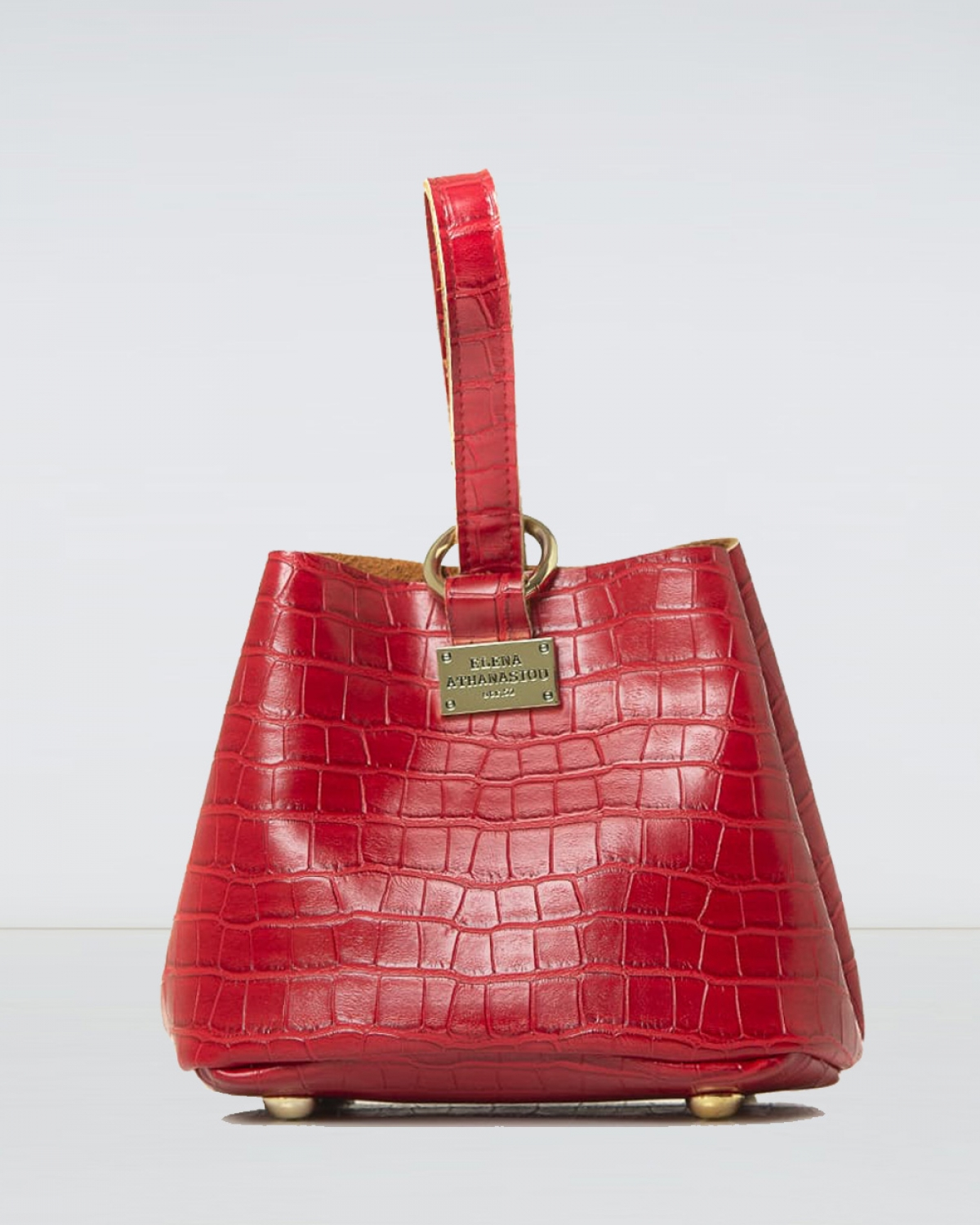Tiny Croco Red Bag