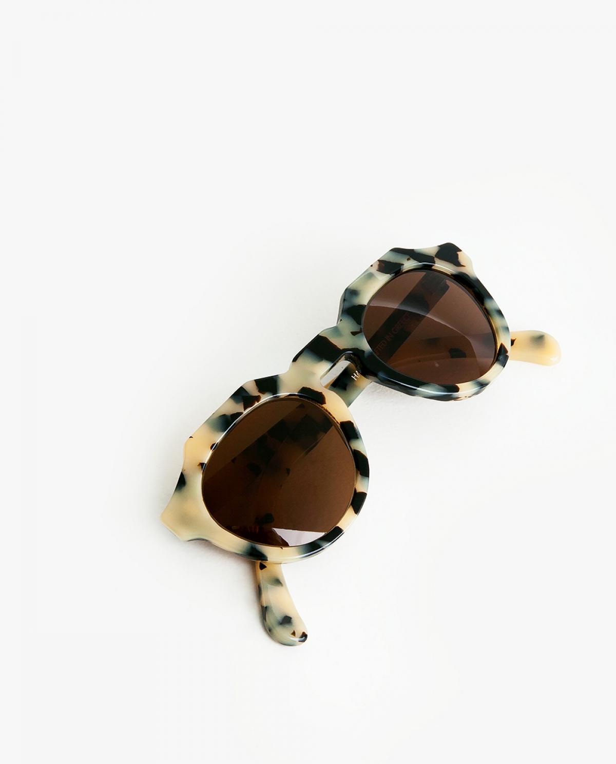 Tortoise Round-frame Acetate Sunglasses