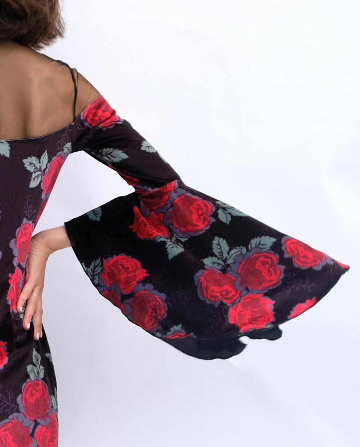 Velvet and Sheer Mini Dress