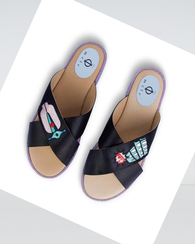 Vespa - Black Crossover Espadrille Sandal
