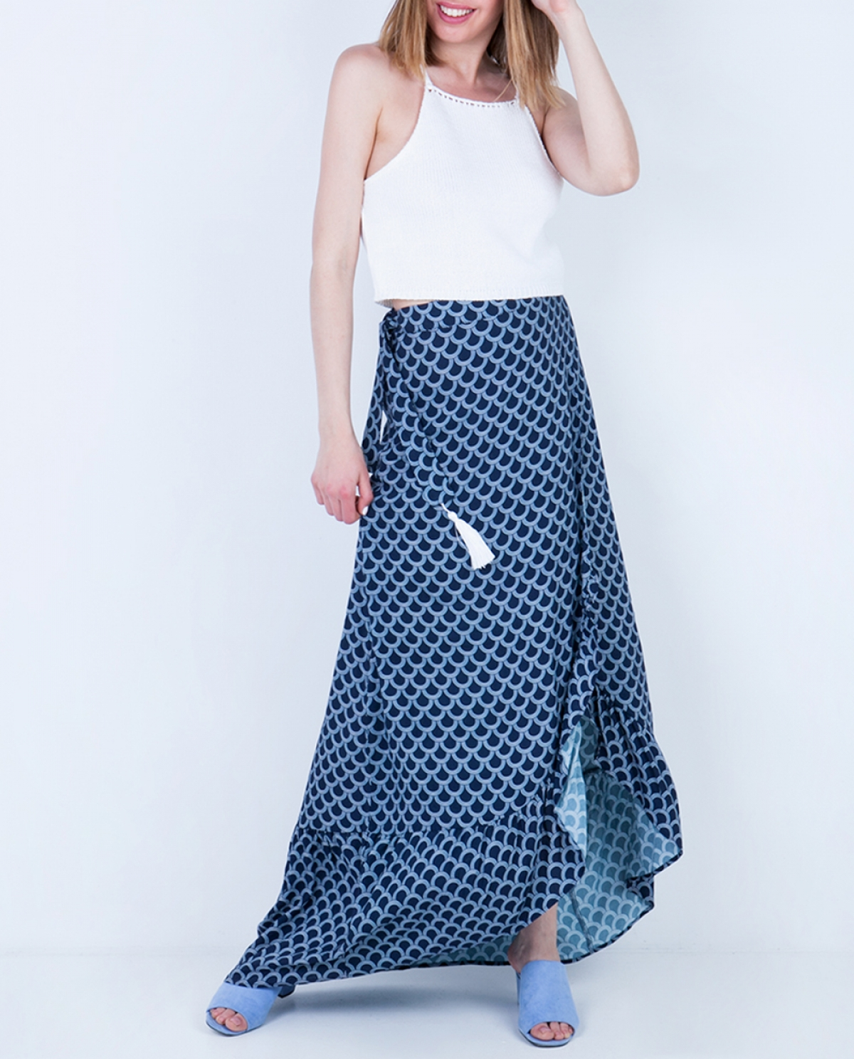 Viscose Printed Maxi Skirt