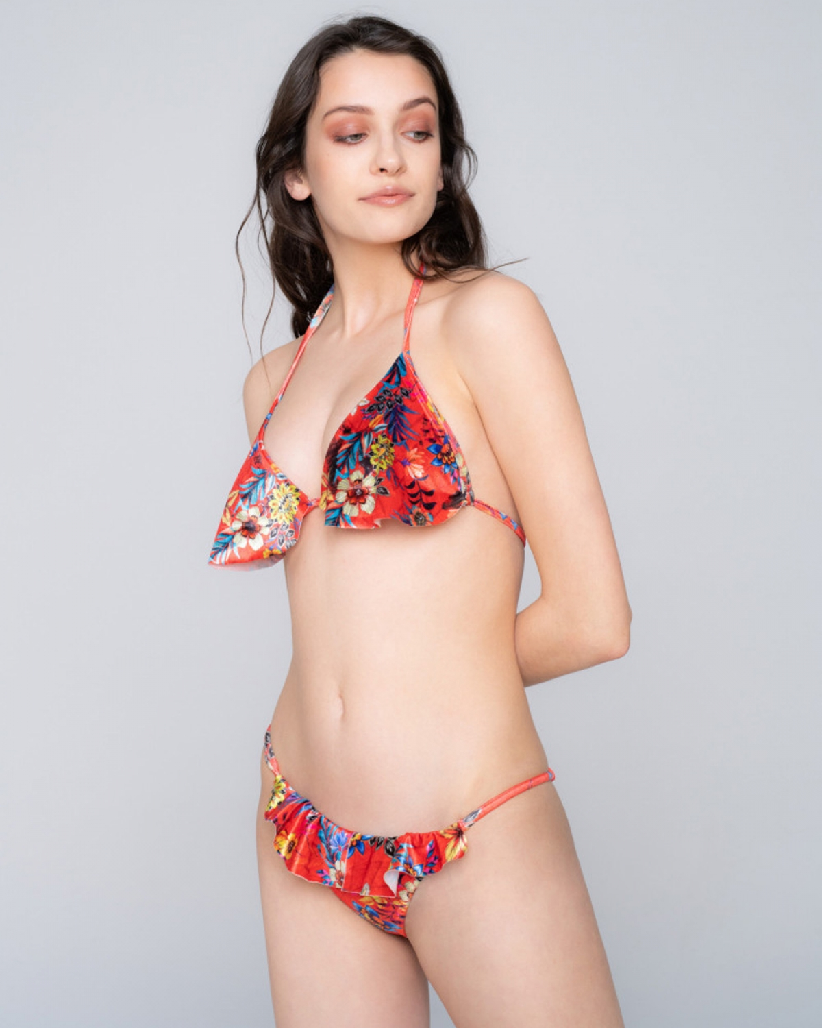 Volan Triagle Red Bikini