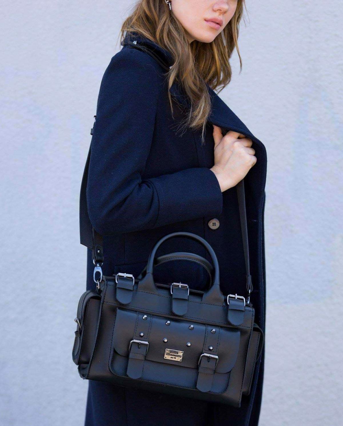 Wild Black Bucket Bag