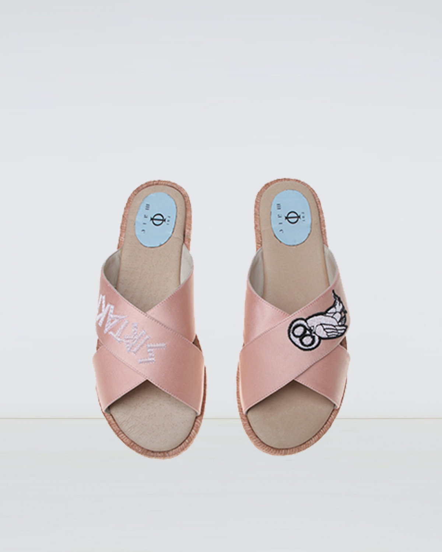 Wisdom - Pink Crossover Espadrille Sandal