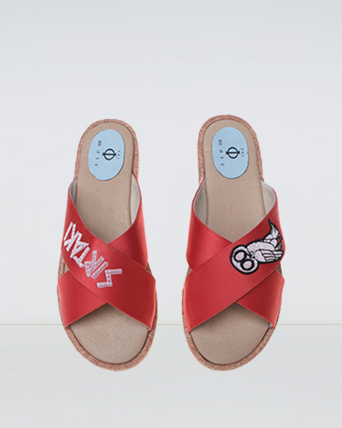 Wisdom - Red Crossover Espadrille Sandal