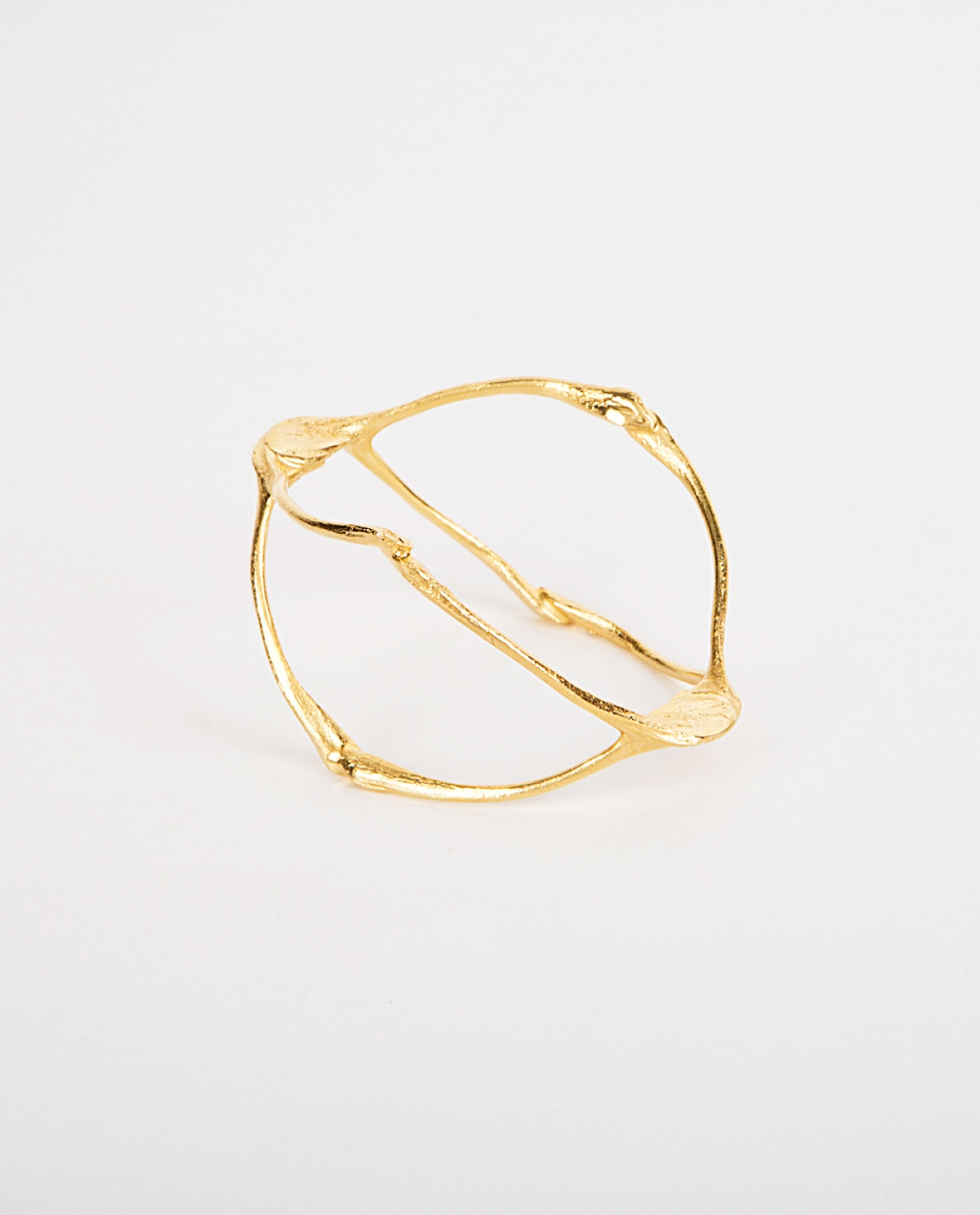 Wishbone Gold-plated Silver Cuff