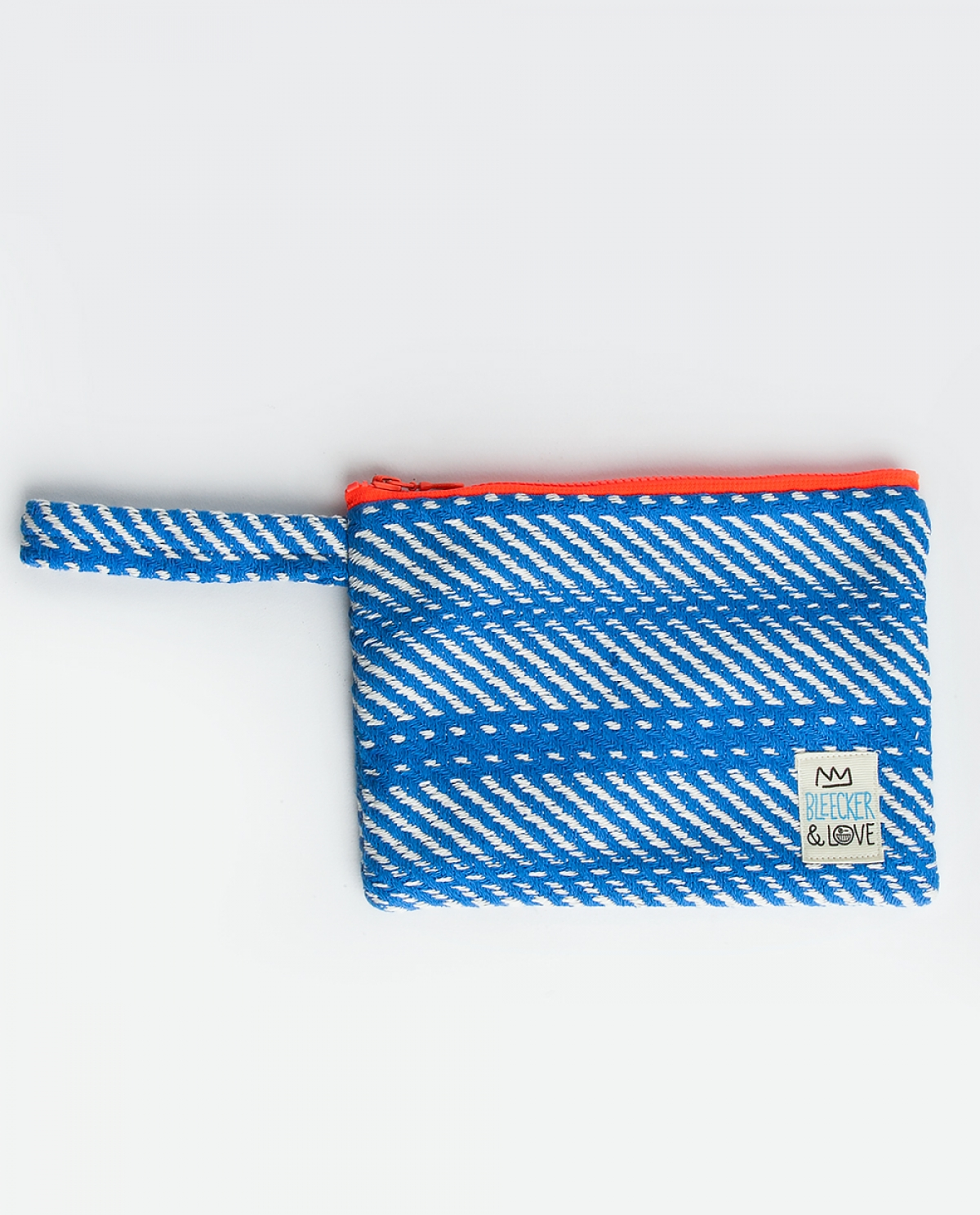 Woven Blue Small Clutch