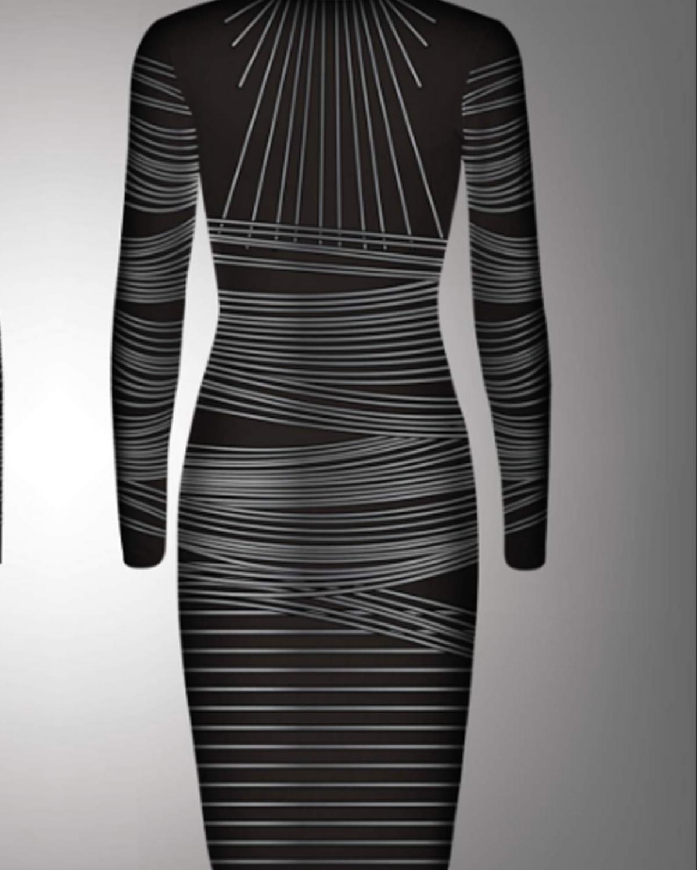 Yarn Silver Midi Dress
