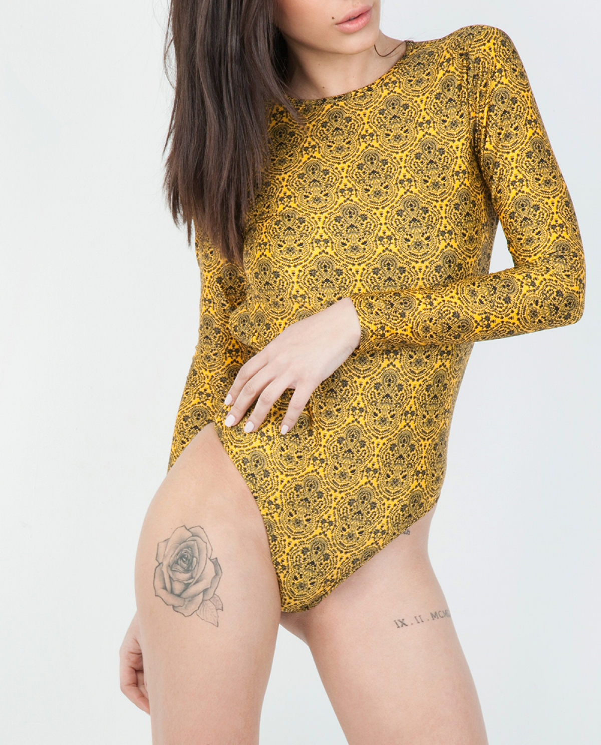 Zara Lorelai Long-sleeve Swimsuit