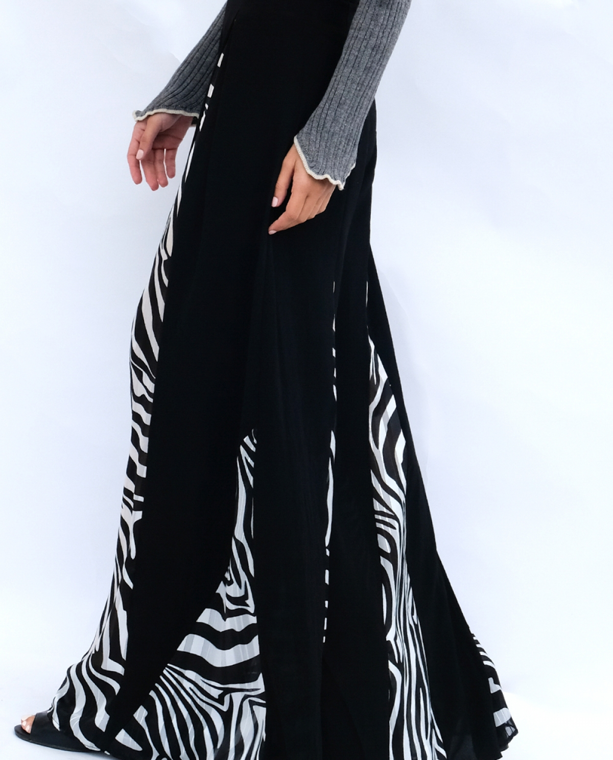 Zebra Flared Trousers