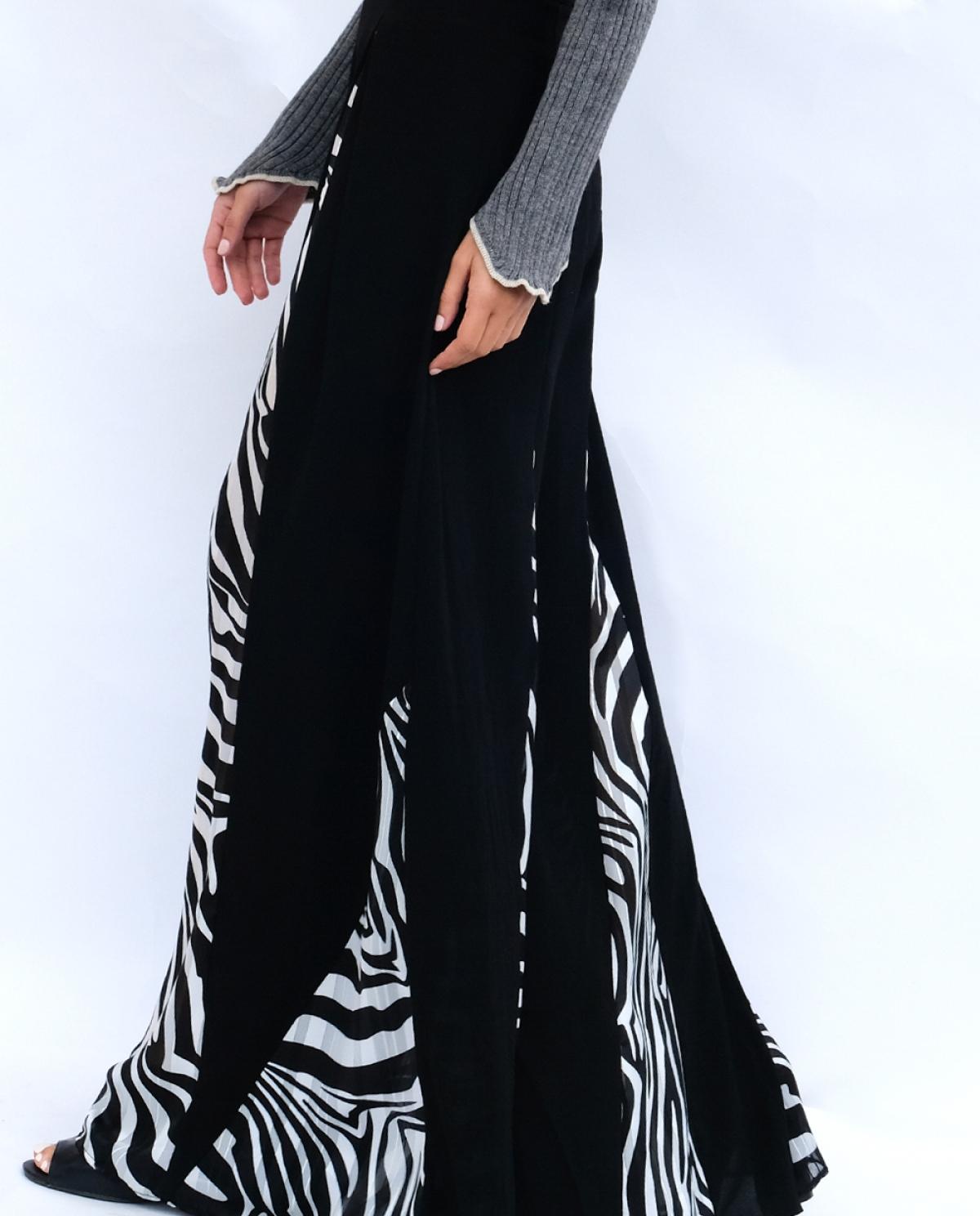 Zebra Flared Trousers