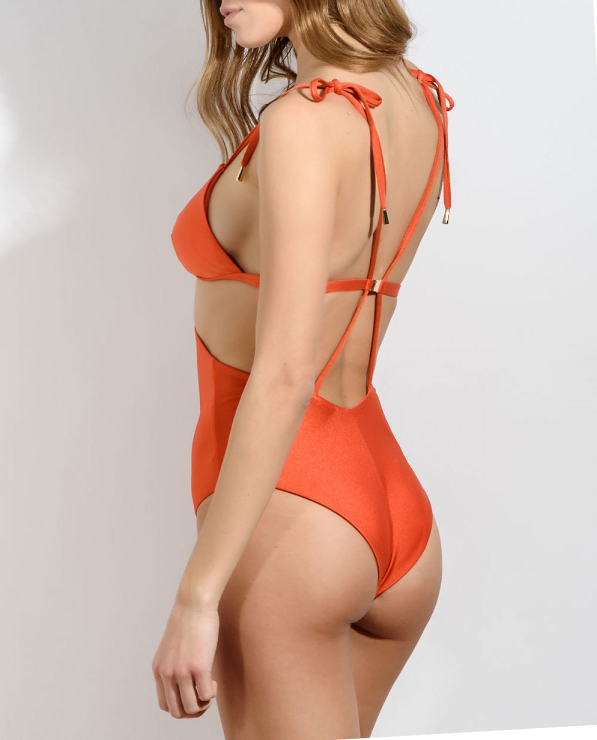 ZILDA Orange Cutout Swimsuit
